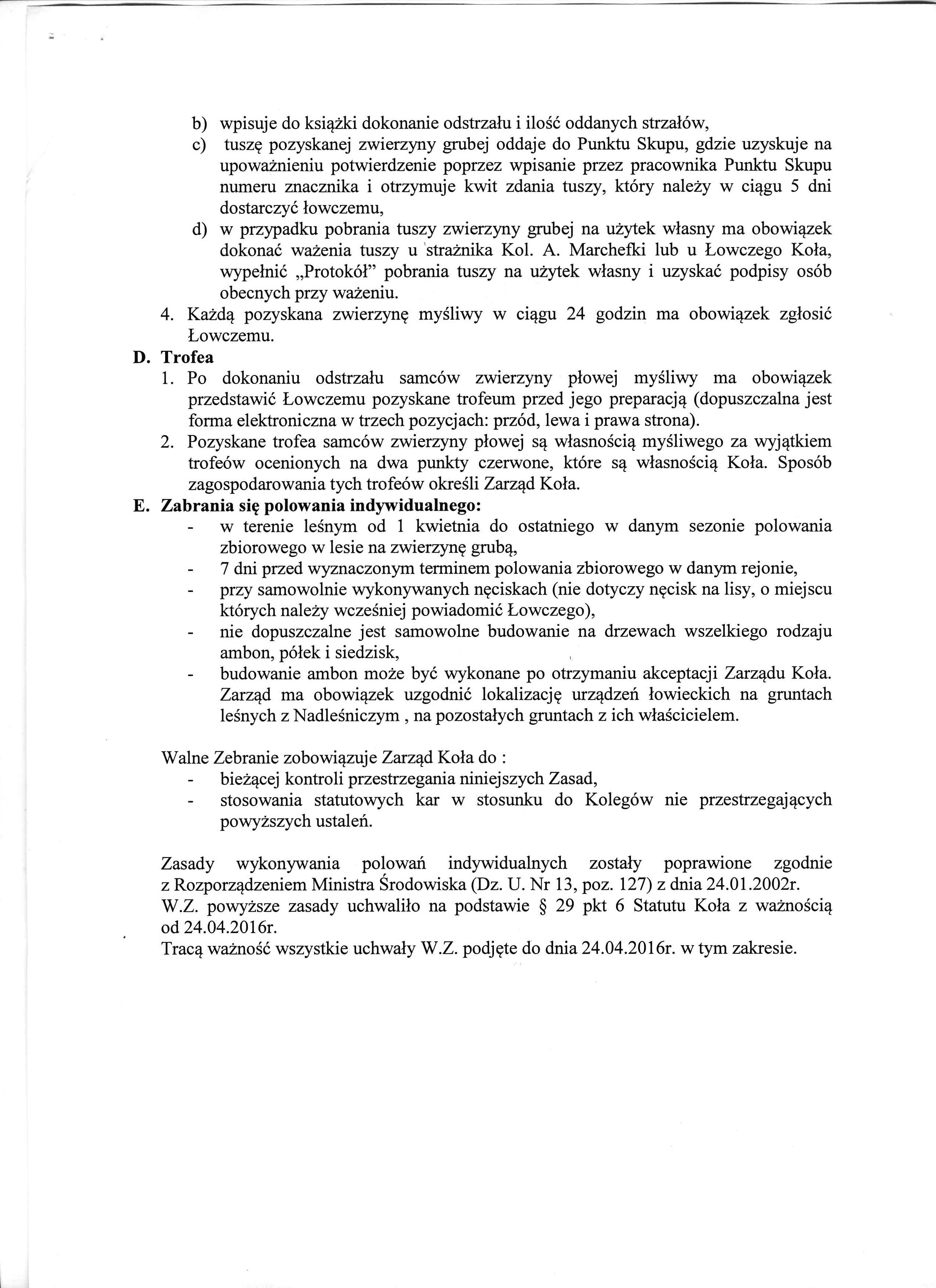 Zasady wykonywania polowań indywidualnych (3)